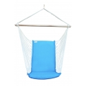 Hanging Chair - Turquoise Brazilian Backed Hanging Chair