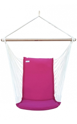 Hanging Chair - Pink Brazilian Backed Hanging Chair