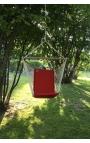 Silla Colgante Brasileña Roja con Respaldo