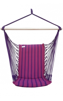 Hanging Armchair - Fuchsia Brazilian Backed Hanging Chair