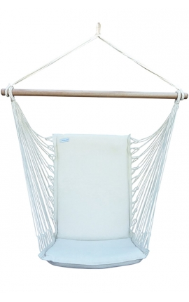 Hanging Chair - Premium Natural Brazilian Backed Hanging Chair
