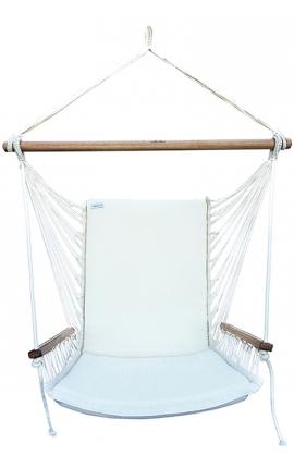Indoor Hanging Chair - Brazilian Backed Hanging Armchair