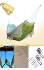 Hamaca Colgante Doble Brasileña Verde Suave