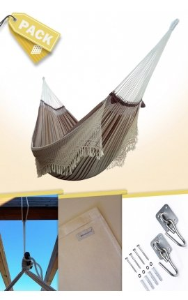 Pack Family-size Luxury Brazilian Hammock + Cushion + Attachments