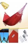 Hamaca Colgante Doble Brasileña Roja