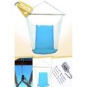 Pack Silla Colgante Brasileña Azul Turquesa con Respaldo + Anclajes