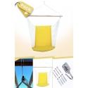 Pack Silla Colgante Brasileña Amarilla con Respaldo + Anclajes