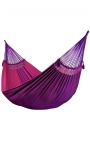 Pack Family-size Brazilian Hammock with a Fuchsia Design + Cushion + Attachments