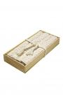 Manteles individuales artesanales en algodón orgánico color beige