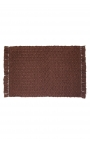 Brown individual tablecloths handmade of cotton