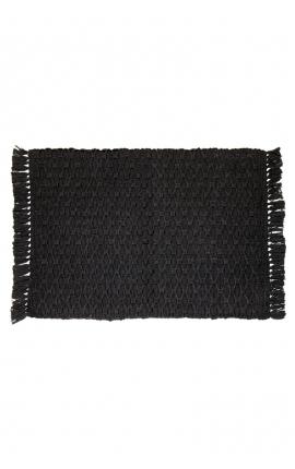 Manteles individuales artesanales color negro
