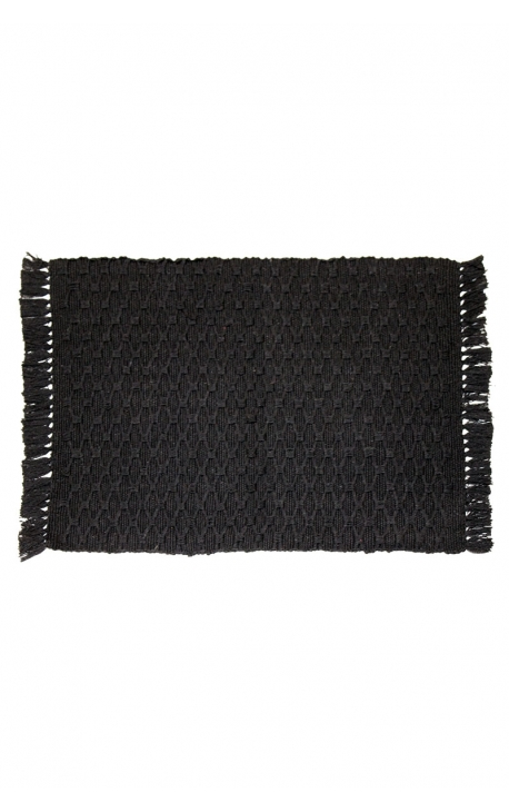 Black handcrafted placemats