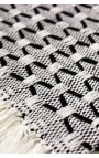 Black and white handcrafted individual tablecloths