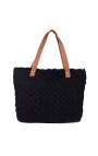 Black eco-friendly crochet bag - Shopping style