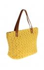 Yellow eco-friendly crochet bag - Shopping style