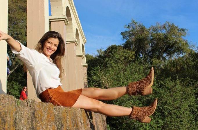 Andrea Grecco creadora y propietaria de la marca de zapatos artesanales de lujo Attraverso per Grecco.